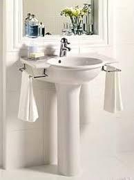 small powder room pedestal sink shelf google search bathroom