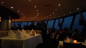 dinner at the niagara falls canada skylon tower in the revolving