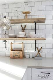 Rustic Industrial Kitchen Shelves