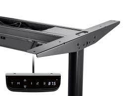 Monitor Shelf For Desk by Sit Stand Dual Motor Height Adjustable Table Desk Frame Electric