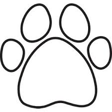 Dog Paw Print Silhouette Clipart