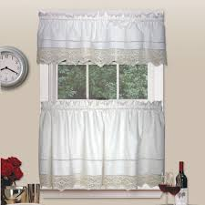 Sears Sheer Lace Curtains by White Cafe Curtains Cafe Curtains For Kitchen Red And White