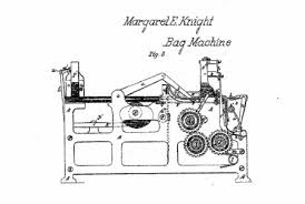 Drawing From An 1871 Patent Show View Of Margaret Knights Paper Bag Making Machine