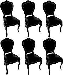 casa padrino luxus barock esszimmer set schwarz schwarz 45 x 47 x h 99 cm 6 handgefertigte massivholz esszimmerstühle mit echtleder barock