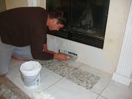 Acrylpro Ceramic Tile Adhesive Drying Time by Mosaic Tile Fireplace Makeover U2013 Grow Taste Create