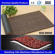 PVC Sprayed Coil Plastic Floor Mats For Home