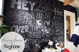 The Chalkboard Wall I Added To My Kids Playroom