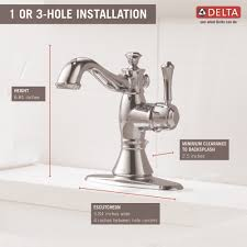 Delta Cassidy Bathroom Faucet by Delta Faucet 597lf Mpu Cassidy Polished Chrome One Handle Bathroom