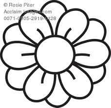 Pin White Flower Clipart Coloring 8