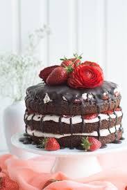Hochzeitstorte Mit Erdbeeren Und Limetten Einfach Mit Wow Effekt Schokoladen Erdbeer Cake