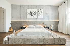Santa Barbara Platform Bed With Bedroom Industrial High Ceilings Contemporary Nightstands And Bedside Tables2 Logs