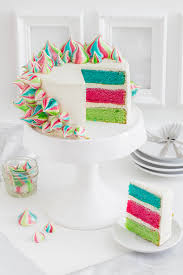 bunte baiser torte