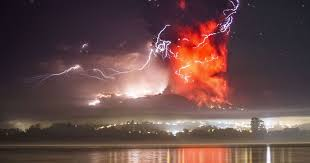 Chile Volcano Breath Taking Images Show Lightning Storm Erupting INSIDE Choking Cloud Of Ash And Smoke