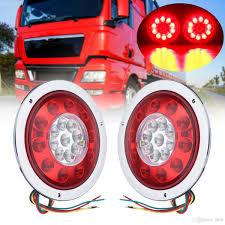 100 Running Lights For Trucks 2019 54 12V24V Universal Trailer Caravans Truck 19 LED Round