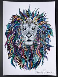 Drawn Lion Trival 15