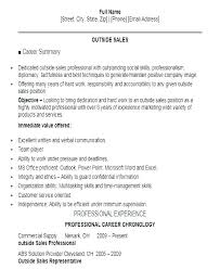 Summary On A Resume Examples Professional In Sales Outside