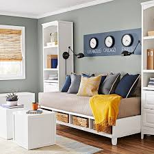 give your guest room a more casual look with a platform bed