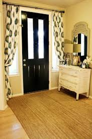 Front Door Sidelight Curtain Panels by Curtains Over The Entry Way Love Home Ideas Pinterest