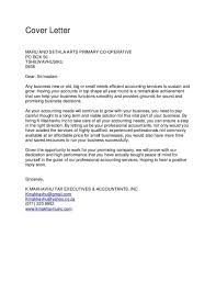 Business Letters Accounting Cover Letter