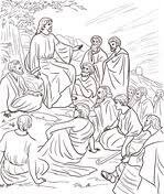 Jesus Teaches From Boat Coloring Page