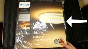 philips hue white ambiance being ceiling unboxing