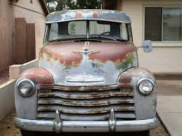 Cool Rusty Pick-up: Front View Of 1950's Chevy Truck | Flickr