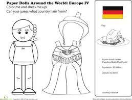German Paper Doll