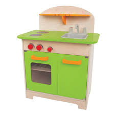 hape e3101 playfully delicious gourmet kitchen in green play set