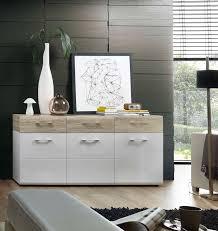details zu kommode spirit sideboard wohnzimmer esszimmer flur weiß sandeiche