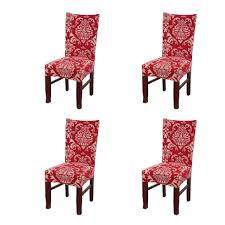 Amazon.com: SoulFeel Set Of 4 X Stretchable Dining Chair Covers ... Pittsburgh Chair Covers Services Festive Holiday Poinsettia Tufted Cushion Padded Seat New Cozy Cover Btr Back To Realitee Short Ding Room Slip Cover Asddfxfff By Esapnol1 Issuu Christmas Chair Seat Cover Santa Snowman Red Green Table Dropshipping For Christmas Claus Mrs Santa Xgiejdeducationaddainfo Bling Custom Fitted Back Washable Removeable Innovative How To Make And Ding Cushions Patio Kitchen And Bench Matching Table Red Father Toilet Rug Set Home Hotel