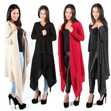 waterfall cardigan ladies soft feel long womens shawl wrap jumper