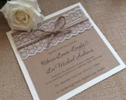 Vintage Lace Wedding Invitations Bold Inspiration 10 Etsy UK