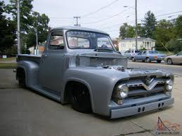 100 1955 Ford Panel Truck F100SILVER BULLET