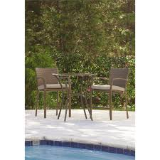 High Top Patio Furniture Sets cosco outdoor 3 piece high top bistro lakewood ranch steel woven