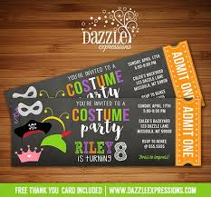Spirit Halloween Missoula Hours by Printable Costume Party Chalkboard Ticket Birthday Invitation
