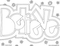 Word Believe Coloring Pages Printable