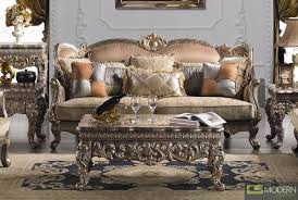 Traditional Upholstery French European Design Formal Living Room