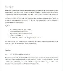Resume Template High School Students Senior Student Examples For