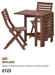 IKEA Table & 2 Folding Chairs (RRP £124) In KT1 London For ...