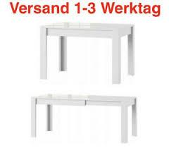 details zu esszimmertisch esstisch auszugstisch tisch esszimmer 120 190 cm weiß hochglanz