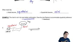 Chair Conformation Of Cyclohexane by Cyclohexane Equatorial Preference Organic Chemistry Clutch Prep