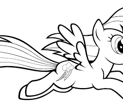 Coloring Pages For My Little Pony Unicorn Color Page Rainbow Printable