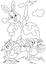 Printable Coloring Pages Of The Easter Bunny Best