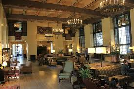 the sitting room just outside the ahwahnee hotel dining room
