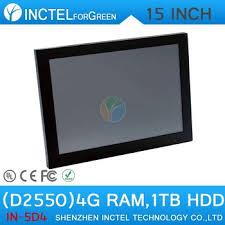 ordinateur de bureau tactile led ordinateur l intégration tout en un écran tactile 2mm panneau 15
