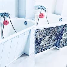 fliesenaufkleber set für küche bad design black n white