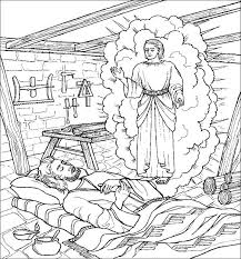 Great For Just Before ChristmasJoseph And The Angel Coloring Page