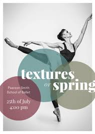 Texture Of Spring Ballerina Poster
