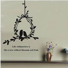 tree vines birdcage wall art mural decal sticker wall quote