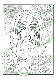 Printable Coloring Page For Adults Gift Stoner By FLASHBACK420